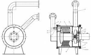Вакуумная шахтная печь UPF100150 - вентилятор внешнего охлаждения реторты